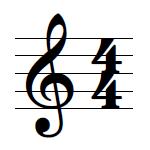 Time signature music symbol